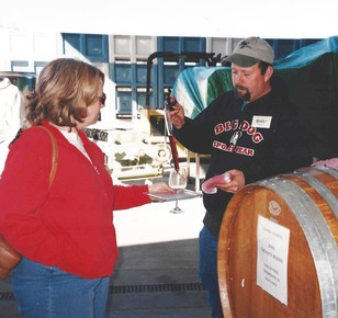 Rusty in his early days at Vino Noceto
